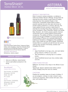 dōTERRA - TerraShield Natural Insect Repellent